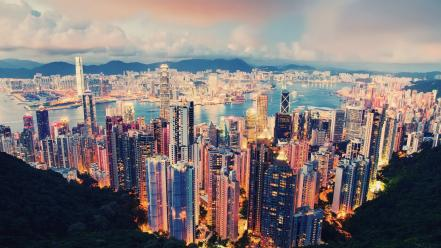 Cityscapes hong kong cities wallpaper