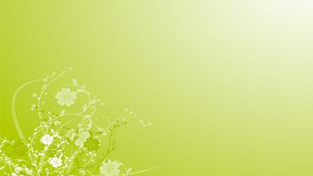 Green abstract flowers wallpaper
