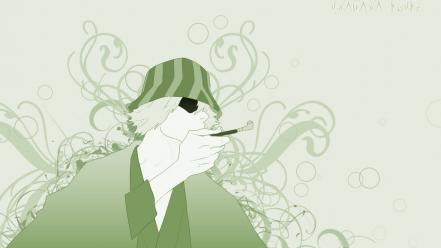 Green bleach urahara kisuke monochrome pipes wallpaper