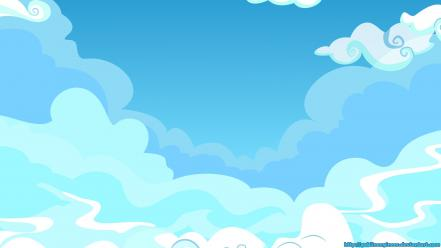 Is magic background blue skies sky ponies Wallpaper