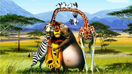 Madagascar 3 animated movies wallpaper