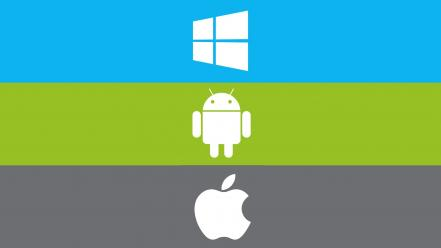 Minimalistic android apples windows Wallpaper