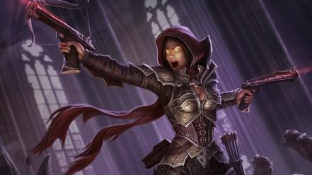 Video games demon hunter artwork diablo iii wallpaper