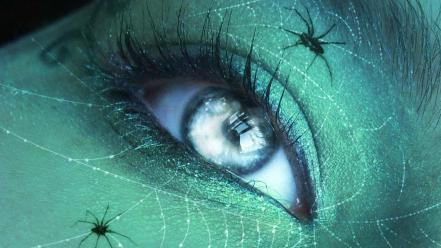 Eyes fantasy art spiders wallpaper