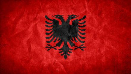 Grunge flags national albania Wallpaper
