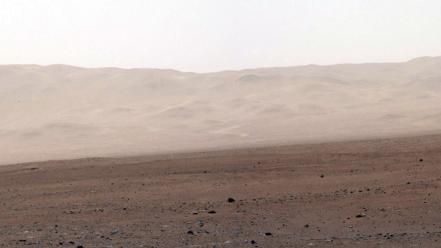 Mountains landscapes mars rocks nasa fog dust curiosity wallpaper