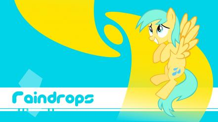 Raindrops my little pony: friendship is magic wallpaper