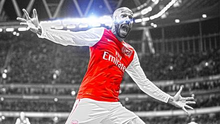 Selective coloring premier league cutout thierry henry wallpaper