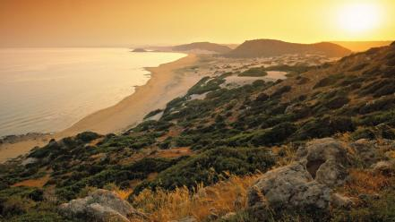 Sun beach greece cyprus turkish greek islands wallpaper