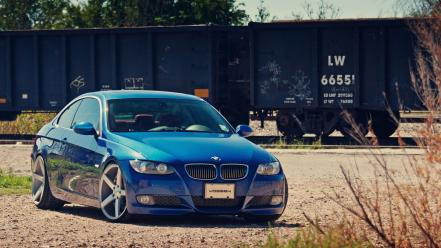 Blue germany wheels bmw m3 coupe modified vossen wallpaper