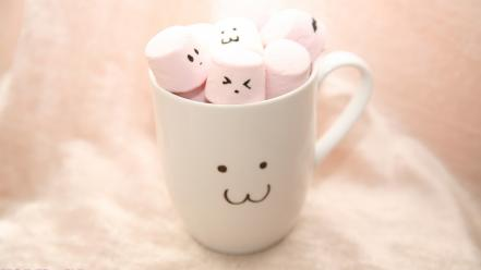 Cups marshmallow wallpaper