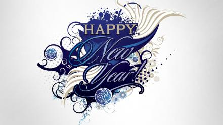 New year holidays celebration graphic art happy wallpaper