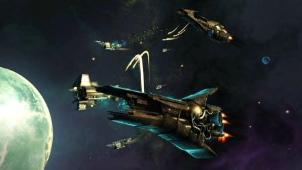 Outer space endless science fiction game wallpaper