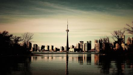 Tourism dusk cn tower geography north america wallpaper