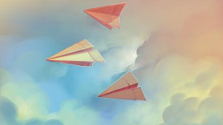 Artwork paper plane wallpaper