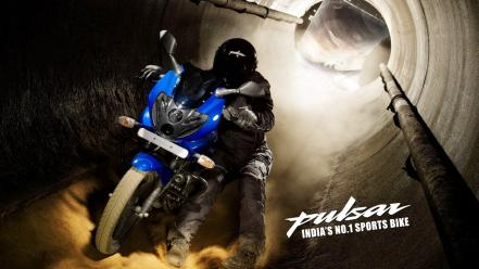 Blue pulsar stunt bajaj Wallpaper