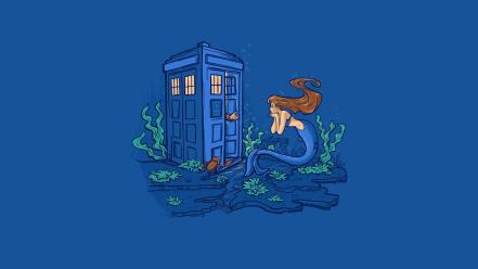 Doctor who crossovers ariel (mermaid) blue background wallpaper