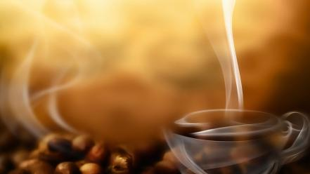 Steam coffee beans wallpaper