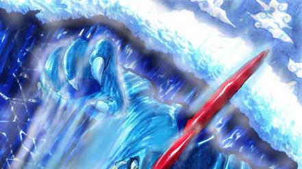 Water pokemon surfing deviantart artwork waterfalls feraligatr wallpaper