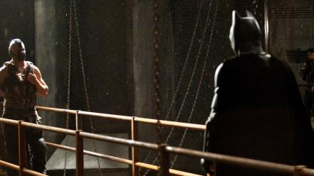 Batman chains bane the dark knight rises Wallpaper
