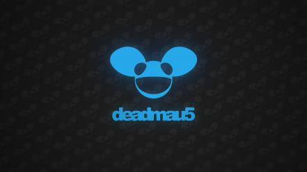 Blue typography deadmau5 glow simplicity wallpaper