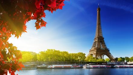Eiffel tower autumn (season) wallpaper