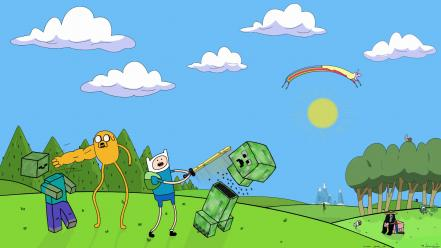 Minecraft adventure time fan art wallpaper