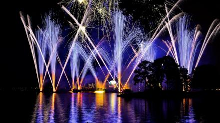 Night fireworks epcot illumination wallpaper