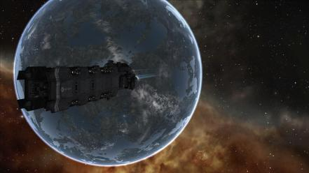 Outer space eve online spaceships wallpaper