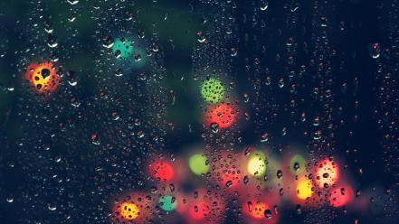 Rain bokeh water drops wallpaper