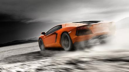 Smoke home lamborghini dust roads aventador lp700-4 wallpaper