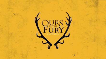 Yellow fury game of thrones house baratheon wallpaper