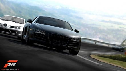 Audi r8 forza motorsport 3  mercedes slr wallpaper