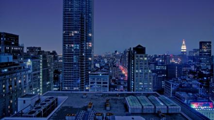 Cityscapes lights buildings wallpaper