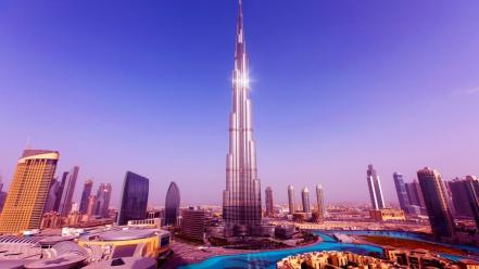 Cityscapes tower buildings united arab emirates burj khalifa wallpaper