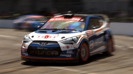 Cross cars rally hyundai veloster wallpaper