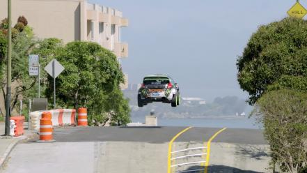 Dc shoes gymkhana rally car jump 5 wallpaper