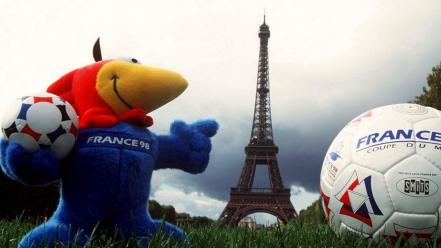 France french balloons roosters mascot 1998 footix wallpaper