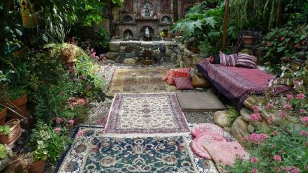 Garden carpet persian wallpaper