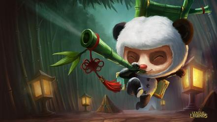 League of legends teemo artwork skin panda wallpaper