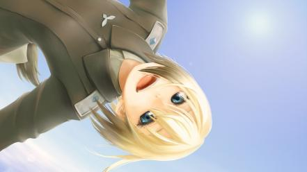 Upside down skyscapes erica hartmann anime girls wallpaper