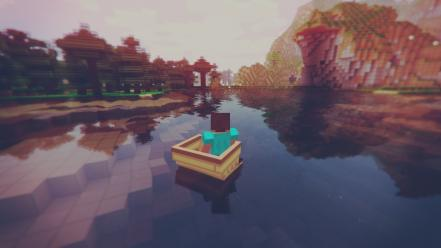 Video games minecraft wallpaper