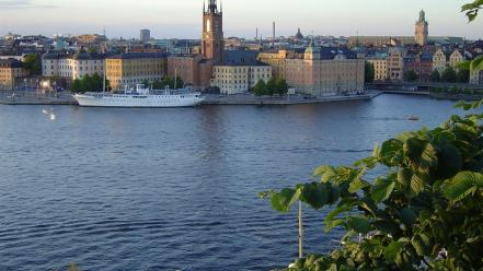 Water nature sweden town stockholm sea wallpaper
