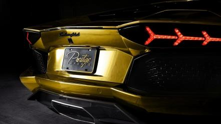 Cars lamborghini aventador exhaust lp700-4 wallpaper