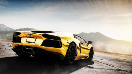 Cars lamborghini aventador yellow lp700-4 wallpaper