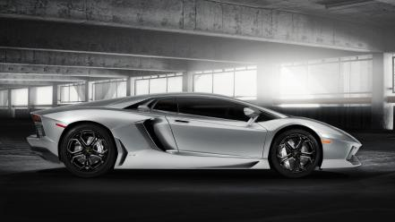 Cars parking lamborghini aventador lp700-4 Wallpaper