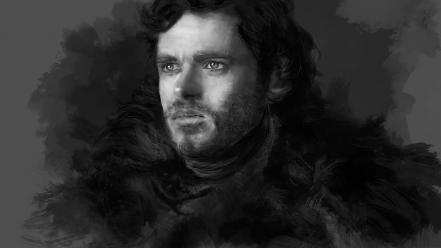 Paintings ice digital art robb stark 2d wallpaper