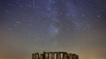 Stonehenge national geographic long exposure meteor shower wallpaper