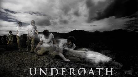 Underoath metalcore music bands fading wallpaper