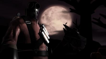 Video games team fortress 2 full moon pyro wallpaper